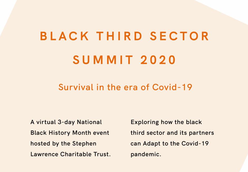 Black Third sector Summit 2020